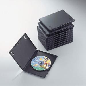 エレコム CCD-DVD03BK DVDトールケース(10枚パック・ブラック) (CCDDVD03BK)|tantan