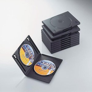 エレコム CCD-DVD06BK DVDトールケース 両面収納(10枚パック・ブラック) (CCDDVD06BK)|tantan