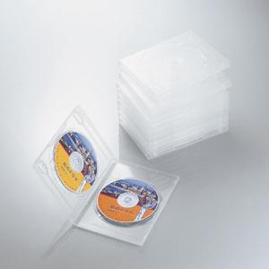 エレコム CCD-DVD06CR DVDトールケース 両面収納(10枚パック・クリア) (CCDDVD06CR) tantan