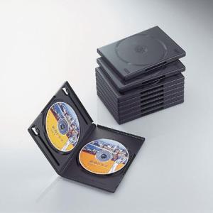 エレコム CCD-DVDS06BK DVDスリムトールケース 両面収納(10枚パック・ブラック) (CCDDVDS06BK)|tantan