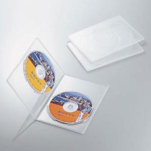 エレコム CCD-DVDS04CR DVDスリムトールケース 両面収納(3枚パック・クリア) (CCDDVDS04CR)|tantan