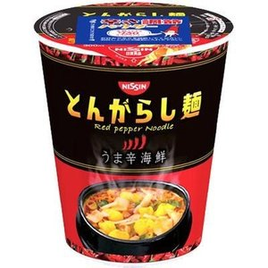 日清食品 E453721H 【ケース販売】日清のとんがらし麺 うま辛海鮮 64g×12個 tantan