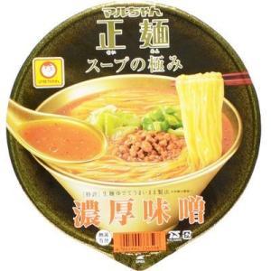 東洋水産 E479306H 【ケース販売】マルちゃん正麺 カップ スープの極み 濃厚味噌 124g×12個