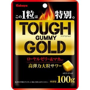 カバヤ食品 E486122H 【ケース販売】カバヤ タフグミ ゴールド 100g×6袋