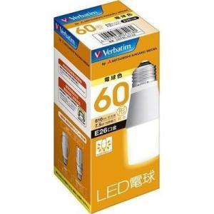 【納期目安:3週間】三菱化学メディア LDT8LGV2 Verbatim LED電球26口金 T型 電球色 60W相当|tantan