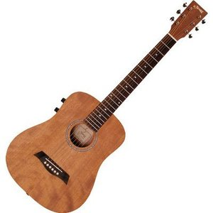 SYAIRI 4534853040211 Compact Acoustic Series ミニエレクトリックアコースティックギター YM-02E/MH マホガニー ソフトケース付属|tantan