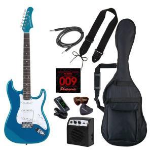 PhotoGenic(フォトジェニック) 4534853536240 エレキギター 初心者入門ライトセット ストラトキャスタータイプ ST-180/MBL メタリックブルー|tantan