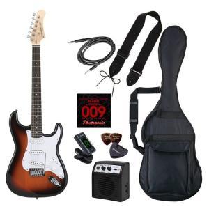 PhotoGenic(フォトジェニック) 4534853536448 エレキギター 初心者入門ライトセット ストラトキャスタータイプ ST-180/SB サンバースト|tantan