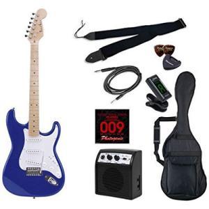 PhotoGenic(フォトジェニック) 4534853537841 エレキギター 初心者入門ライトセット ストラトキャスタータイプ ST-180M/MBL メタリックブルー|tantan