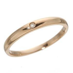 ds-190657 K18 低価格化 ワンスターダイヤリング 指輪 PG 21号 K18ピンクゴールド ds190657 最安値挑戦