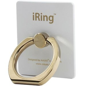 iRing EE-04407 【正規輸入品】iRing Limited Edition スマホグリップ スタンド ゴールドシャフト/パールホワイト|tantan
