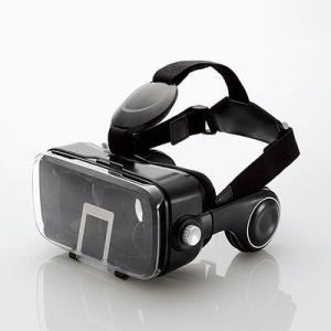 エレコム P-VRGEH01BK VRゴーグル/オーバーヘッドホン一体型/ブラック (PVRGEH01BK)|tantan