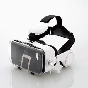 エレコム P-VRGEH01WH VRゴーグル/オーバーヘッドホン一体型/ホワイト (PVRGEH01WH)|tantan