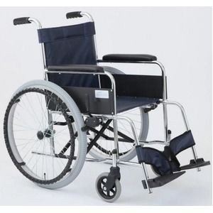 <title>ds-1634669 自走式折りたたみ車椅子 リーズ レザーネイビーブルー 新色追加して再販 紺 背面ポケット付き MIWA ミワ MW-22ST ds1634669</title>