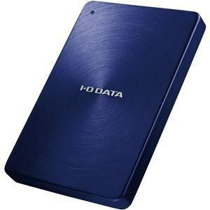 ds-1257469 アイ・オー・データ機器 USB3.0/2.0対応 ポータブルハードディスク 「カクうす」 1.0TB ブルー HDPX-UTA1.0B (ds1257469)|tantan