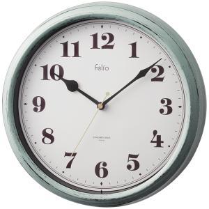 【納期目安:1週間】Felio FEW183-GR カラーズ掛け時計「パンナ 」(グリーン) (FEW183GR)|tantan
