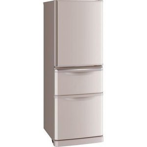 三菱電機 MR-C34D-P 335L コンパクト薄型タイプ 冷蔵庫 (シャンパンピンク) (MRC34DP)|tantan