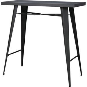 NEW ds-2172983 モダン カウンターテーブル ダイニングテーブル 幅105cm 長方形 スチール 店舗 〔リビング ダイニング 限定タイムセール オフィス〕 ds2172983