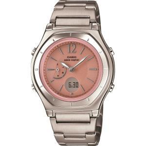 納期目安:1週間 マート 大注目 4971850038887 カシオ ウェーブセプター ピンク 包装 のし可 ソーラー電波レディース腕時計