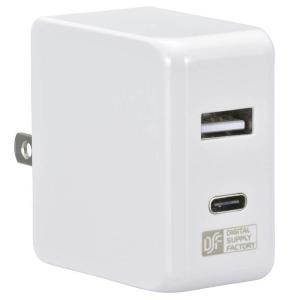●ACアダプター USB Type-C+Type-A