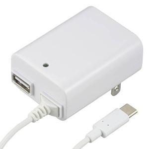 ●家庭用電源から、5V/2.1Aまでの電源を、Type-CとUSBから出力します
