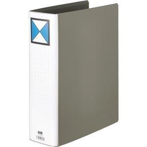 ds-2217224 まとめ TANOSEE 両開きパイプ式ファイルA4タテ 700枚収容 70mmとじ グレー 期間限定で特別価格 ブランド品 10冊 1セット ds2217224 ×3セット 背幅86mm