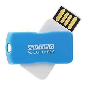 ds-2231446 まとめ アドテック 商舗 USB2.0回転式フラッシュメモリ 16GB AD-UCTL16G-U2R ×10セット 1個 ブルー 割引も実施中 ds2231446