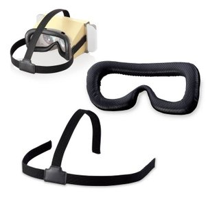 エレコム GM-NSVCB01BK Nintendo Labo VR専用/ゴーグル用フェイスクッション・ヘッドバンド (GMNSVCB01BK)|tantan