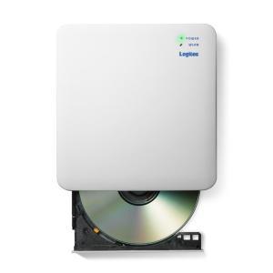 エレコム LDR-PS24GWU3RWH WiFi対応CD録音ドライブ/2.4GHz/iOS_And...