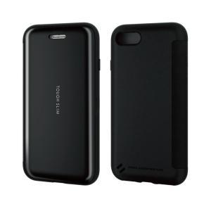 エレコム PM-A19ATSSBK iPhone SE 2020 ケース 手帳型 耐衝撃 カード収納 ブラック  (PMA19ATSSBK)|tantan