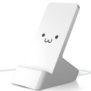 エレコム EC-QS03WF ワイヤレス充電器 Qi 最大出力10W 標準5W 可動式スタンド 滑り止めパッ 1mケーブル付属 ホワイトフェイス (ECQS03WF)|tantan