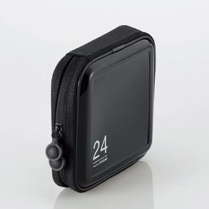 エレコム CCD-H24BK CD/DVDケース/セミハード/ファスナー付/24枚入/ブラック (CCDH24BK)|tantan