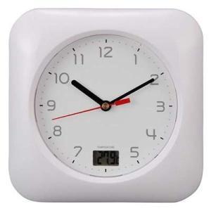 オーム電機 HB-T10-W お風呂用クロック&温度計 (HBT10W)|tantan