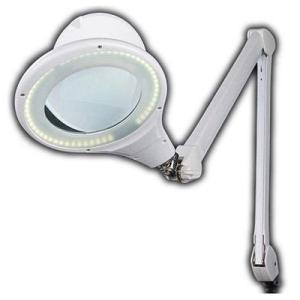 オーム電機 OAL-L8066-W ルーペ付きLEDアームライト (OALL8066W)|tantan