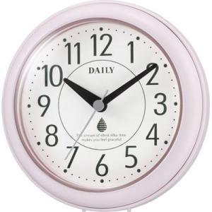 リズム時計 4KG711DN13 強化防滴・防塵 掛け時計 置き時計 掛け用フック付き 直径11.8cm(フック含まず) アクアパークDN(ピンク)|tantan