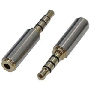 変換名人 AV/25J-35PT 【メール便での発送商品】 AVプラグ 2.5mm(メス) to 3.5mm(オス)4極 (AV/25J35PT) tantan
