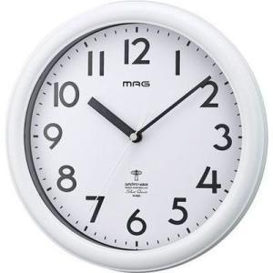 【納期目安:1週間】MAG W-650-WH-Z 電波掛時計「カプタイン」(ホワイト) (W650WHZ)|tantan