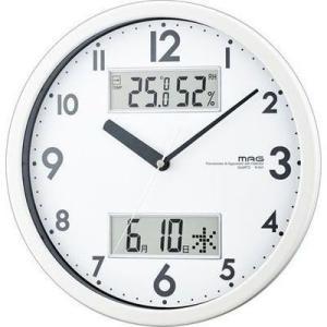 MAG W-631-WH 温湿度/カレンダー機能付掛時計「ダブルメジャー」(ホワイト) (W631WH)|tantan