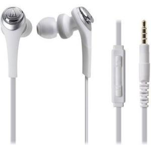 オーディオテクニカ ATH-CKS550i-WH 【メール便での発送商品】iPod/iPhone/iPad専用インナーイヤーヘッドホン SOLID BASS(ホワイト) (ATHCKS550iWH)|tantan