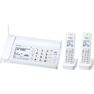 パナソニック KX-PD205DW-W デジタルコードレス普通紙ファクス(子機2台付き) (KXPD205DWW) (KXPD205DWW)