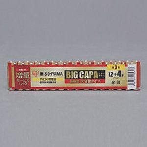 アイリスオーヤマ 4967576165327 大容量アルカリ乾電池 単3形16本パック【5個セット】