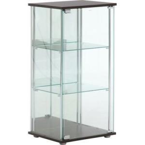 不二貿易 96048 ガラスコレクションケース3段(背面ミラー付き)|tantan