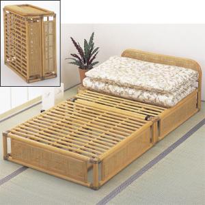 今枝商店 Y915 Romantic Rattan ベッド|tantan