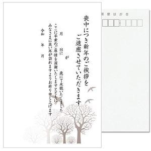 私製10枚 喪中はがき 手書き記入タイプ 私製ハガキ 切手なし 裏面印刷済み k820