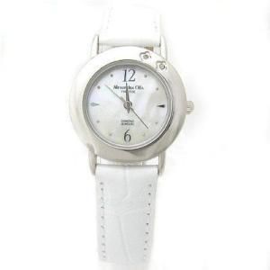ALESSANDRA OLLA アレサンドラオーラ AO-6900-WH 「女性用腕時計 ダイヤ2石 AO-6900 WH レディース」|tantanplus