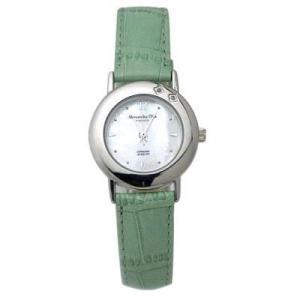 ALESSANDRA OLLA アレサンドラオーラ AO-6900-GR 女性用腕時計 ダイヤ2石 AO-6900 GR レディース|tantanplus