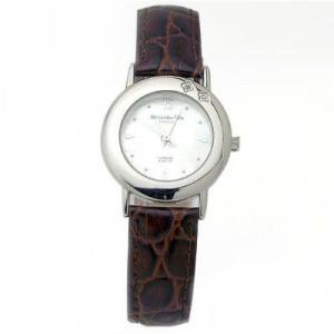 ALESSANDRA OLLA アレサンドラオーラ AO-6900-BR 女性用腕時計 ダイヤ2石 AO-6900 BR レディース|tantanplus