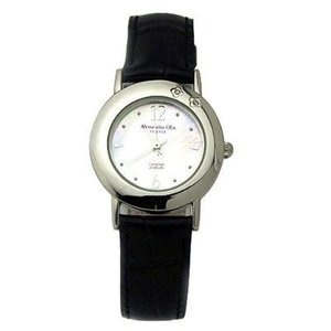 ALESSANDRA OLLA アレサンドラオーラ AO-6900-BK 「女性用腕時計 ダイヤ2石 AO-6900 BK レディース」|tantanplus