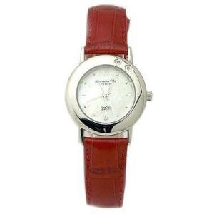 ALESSANDRA OLLA アレサンドラオーラ AO-6900-RE 女性用腕時計 ダイヤ2石 AO-6900 RE レディース|tantanplus