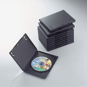 【納期目安:02/09入荷予定】エレコム CCD-DVD03BK DVDトールケース(10枚パック・ブラック) (CCDDVD03BK)|tantanplus